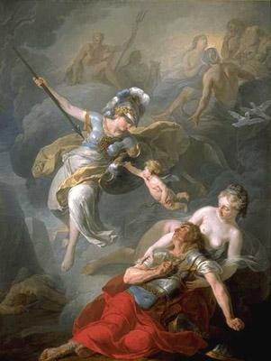 Athéna combattant Arès par SUVEE