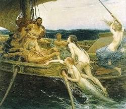 Ulysse et les sirènes par Herbert James Draper(1864 - 1920).